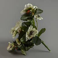 Искусственный цветок анютины глазки (белый).