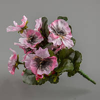 Искусственный цветок анютины глазки (розовый).