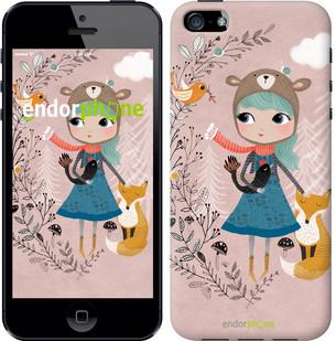"Чехол на iPhone 5 Синеволосая девочка ""3299c-18-571"""