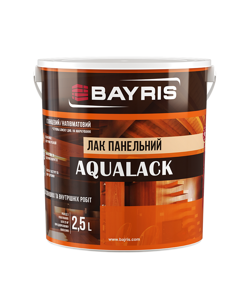 AQUALACK 2.5л - глянцевый панельный лак