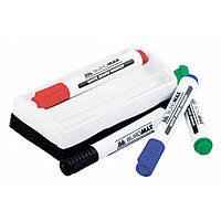 Комплект из 4 маркеров BM.8800 и губки для магнитных досок