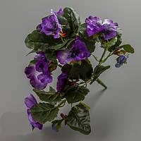 Искусственный цветок анютины глазки (фиолетовый).