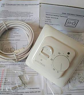 Терморегулятор с выносным датчиком для теплого пола In-Therm rtc-70, фото 2