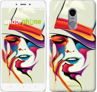 """Чехол на Xiaomi Redmi 5 Красочная женщина в шляпе """"4011c-1350-571"""""""