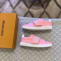 Кожаные кеды, кроссовки Луи Витон, розовые, фото 1