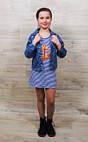 Джинсовая рубашка на девочку( от 1года до 10 лет)