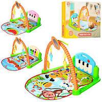 Коврик для младенца HX9124-25-26A  84-50см,пианин,дуга,подв5шт