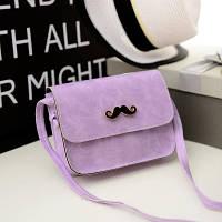 Маленькая женская сумка клатч Усы фиолетовая, фото 1