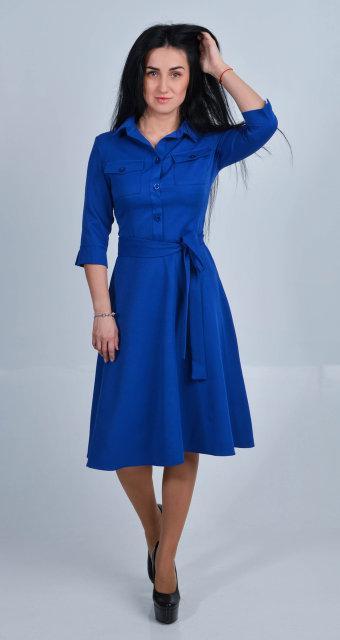 e15164fd5b7 ... Модное платье-рубашка с юбкой солнце клеш размер 42