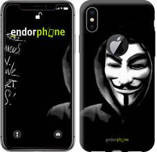 "Чехол на iPhone X Анонимус ""832c-1050-851"""