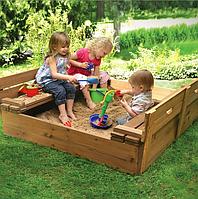 Песочница-лавочка для детей
