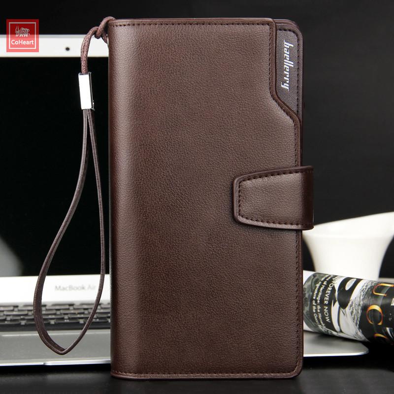 Фирменное мужское портмоне из кожи клатч мужской бумажник на подарок