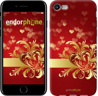 "Чехол на iPhone 7 Ажурные сердца ""734c-336-571"""