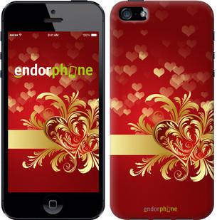 """Чехол на iPhone 5s Ажурные сердца """"734c-21-571"""""""