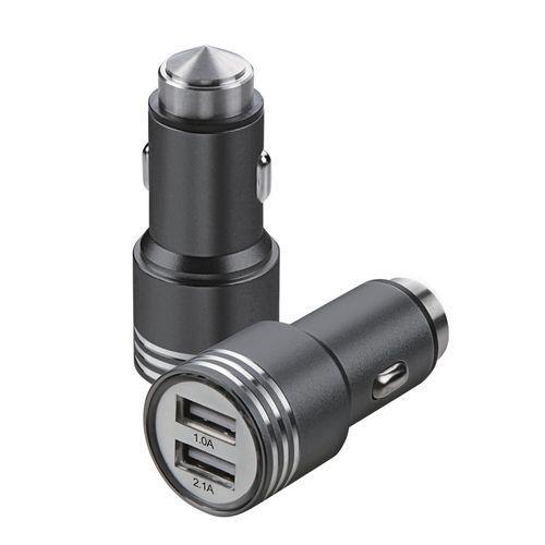 Автомобильная USB зарядка от прикуривателя 12v CAR USB hammer 0068 YZS-A-01 на 2 USB
