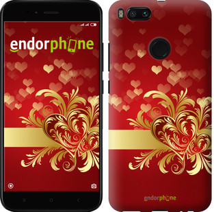 "Чехол на Xiaomi Mi 5X Ажурные сердца ""734c-1042-571"""