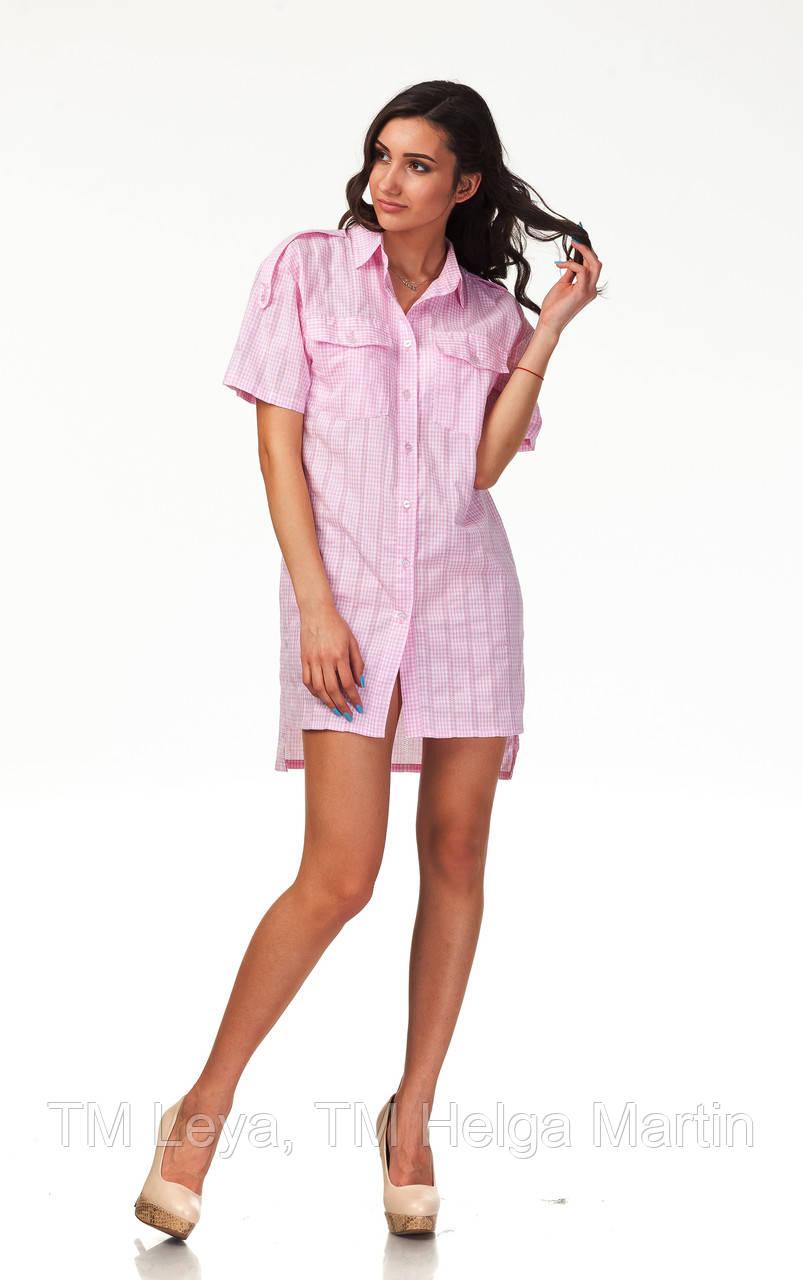 a95674d9729 Хлопковое асимметричное платье рубашка. П112  продажа