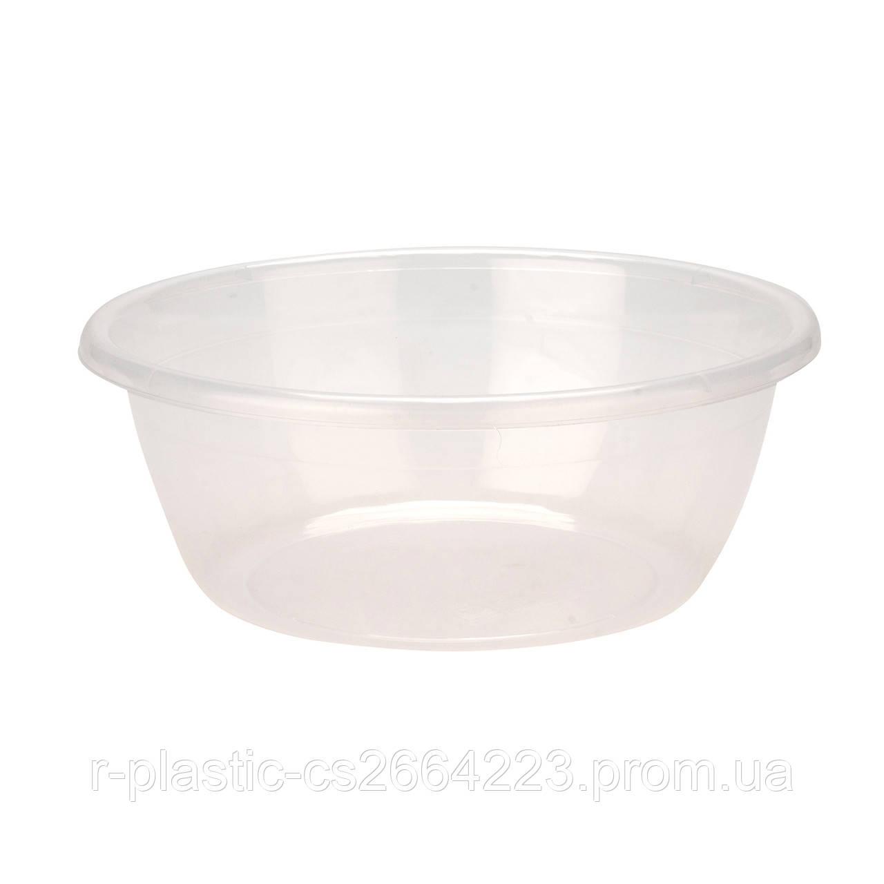 Миска R-Plastic прозрачная 4,5л белая