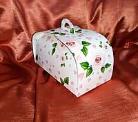 Коробка для пирожных, тортиков 210*110*75 принт роза, фото 1