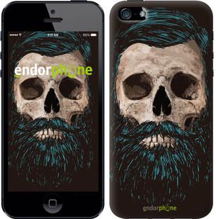 """Чехол на iPhone 5 Череп с бородой """"4102c-18-571"""""""