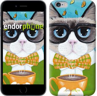"Чехол на iPhone 6 Plus Cat&Coffee ""4053c-48-571"""