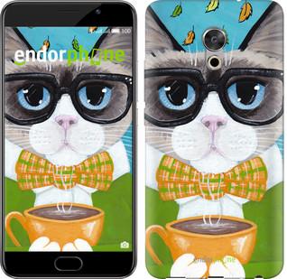 "Чехол на Meizu Pro 6 Plus Cat&Coffee ""4053u-678-571"""