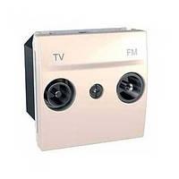 Розетка TV-R проходная 2 мод. мал. затух. Schneider Unica Слоновая кость (MGU3.459.25)