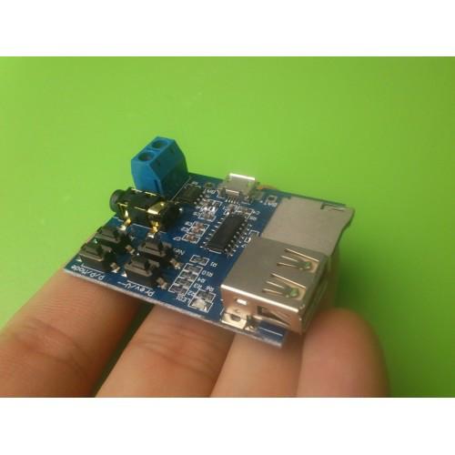 Плата стерео аудио плеер MP3 декодер USB micro SD