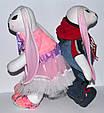 Зайчик девочка, интерьерная мягкая игрушка, 43 см, фото 7