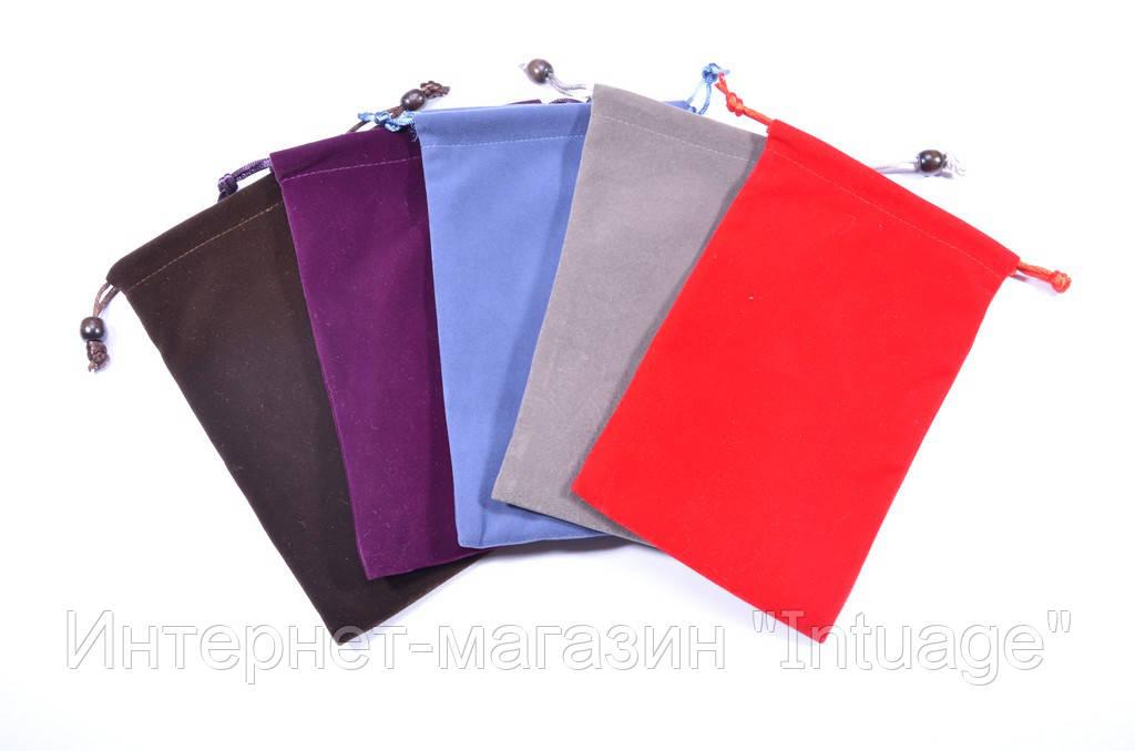 Подарочный мешочек из велюра размер 12*20 см