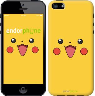 "Чехол на iPhone 5 Pikachu pokemon go v2 ""3770c-18-571"""