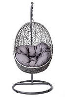 Кокон кресло ротанг Bacoli gray/ крісло-кокон сіре, фото 1