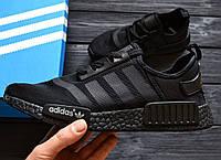 Кроссовки Adidas nmd triple black. Живое фото. (Реплика ААА+)
