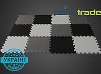 Модульное покрытие в чёрных, серых и белых цветах
