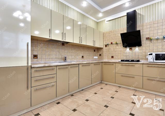 бежевая кухня пример изготовления под заказ в Киеве