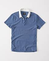Синяя футболка-поло Abercrombie & Fitch