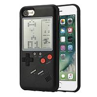 Чехол для Iphone 7/ 8  игровой тетрис, черный