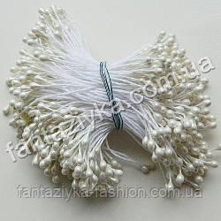 Тычинки для цветов лаковые белые, 50 штук