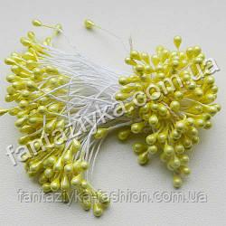 Тычинки цветочные лаковые светло-желтые, 50 штук