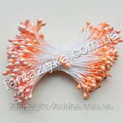 Тычинки для цветов лаковые персиковые, 50 штук