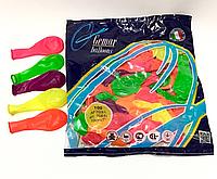 Шары надувные Gemar Balloons неон АF-70, 100шт.