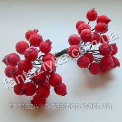Сахарная калина 12мм красная, в пучке 40 ягод