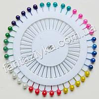Булавки декоративные на диске цветные