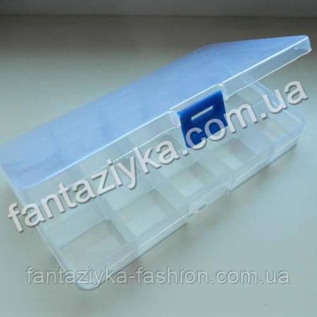 Контейнер для бисера на 10 ячеек прямоугольный