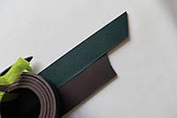 Полосы из натуральной кожи с покрытием для ремней зеленые, толщина 3.5 мм, арт. СКУ 9002.1694