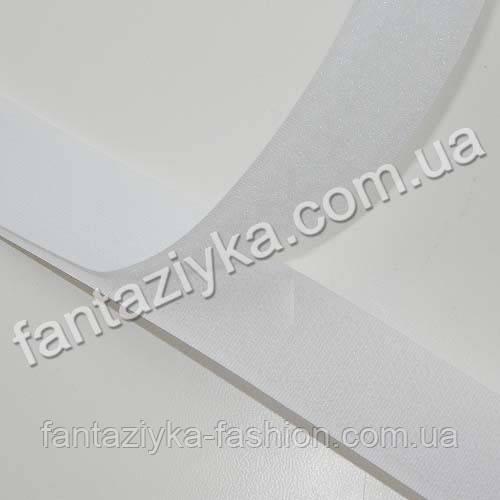 Липучка белая 25мм, липкая лента для одежды и обуви