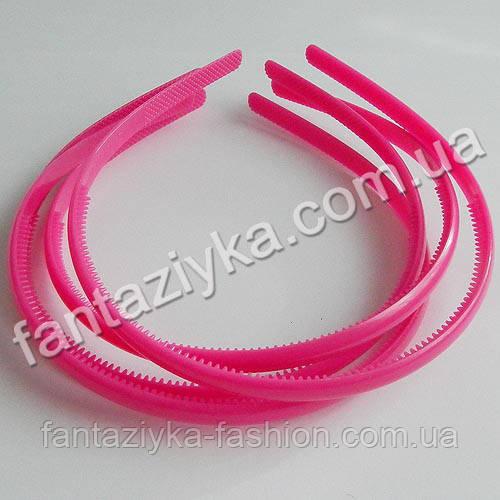 Пластиковый обруч для волос 8мм, малиновый