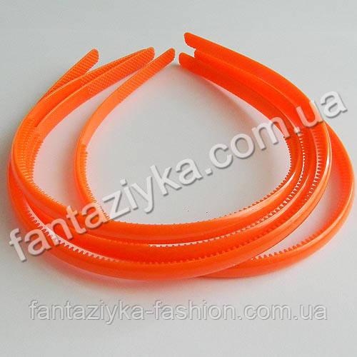 Пластиковый обруч для волос 8мм, оранжевый