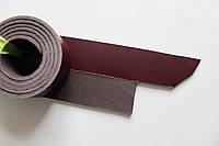 Полосы из натуральной кожи с покрытием для ремней бордовые, толщина 3.5 мм, арт. СКУ 9002.1695