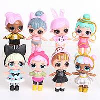 Игровой набор с куклой Лол  L.O.L.Surprise КОНФЕТТІ 8 штук в упаковке Лол сюрприз Куклы малышки Лол шар